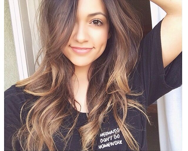 chocolate brown with blonde highlights | •Hair• | Pinterest