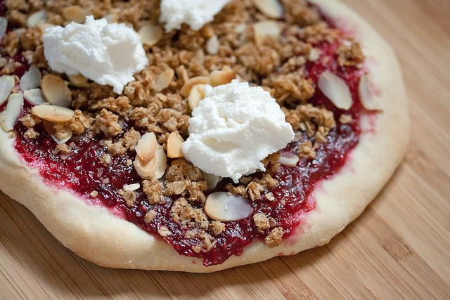 Raspberry-Mascarpone Pizza Recipe — Dishmaps