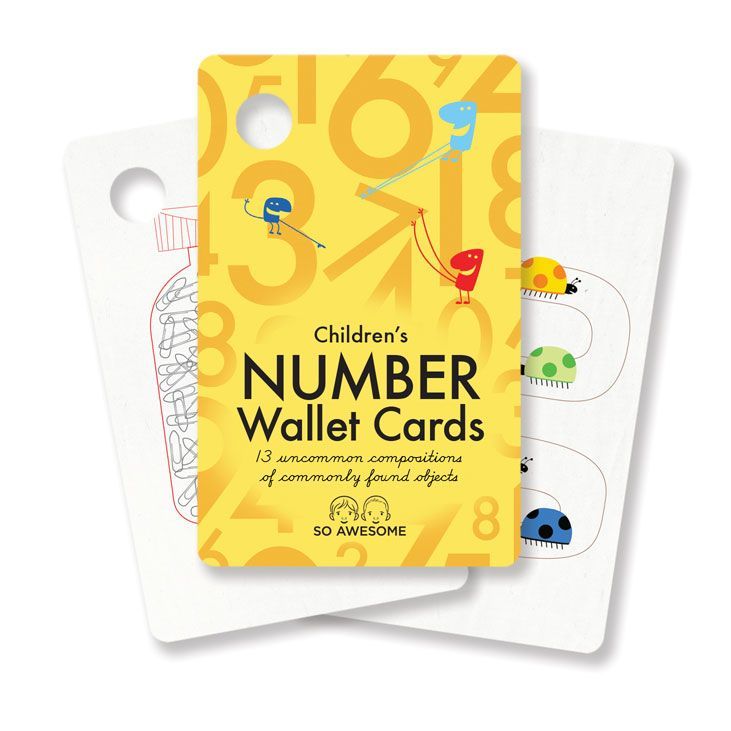 Children's Number Wallet Cards