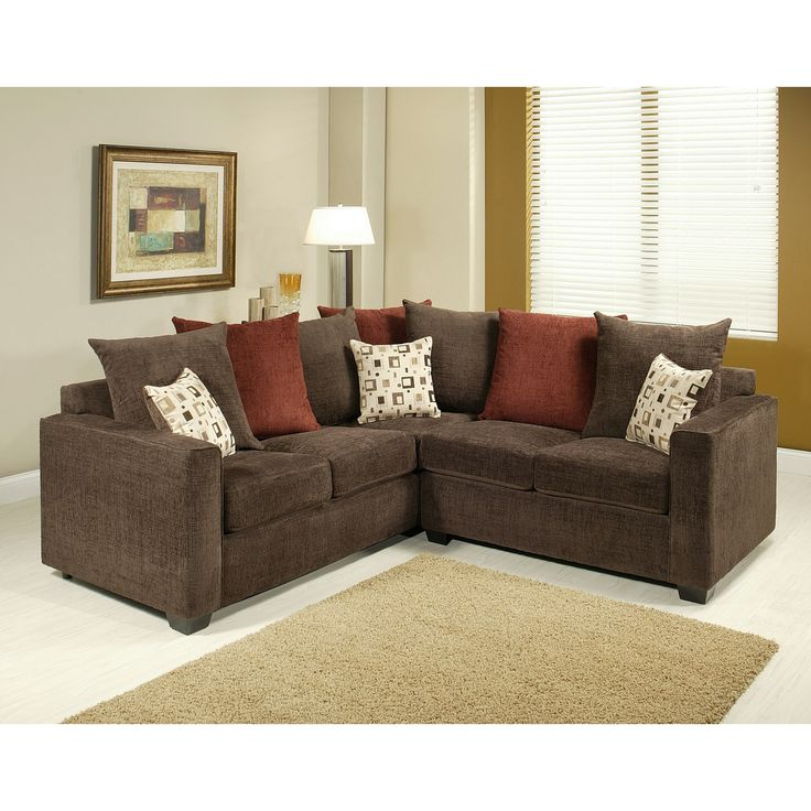 Furniture of america evan 2 piece sectional sofa set for Small sectional sofa overstock