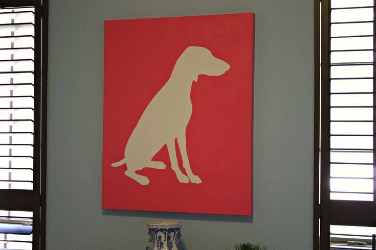 DIY Dog Silhouette Art with contact paper
