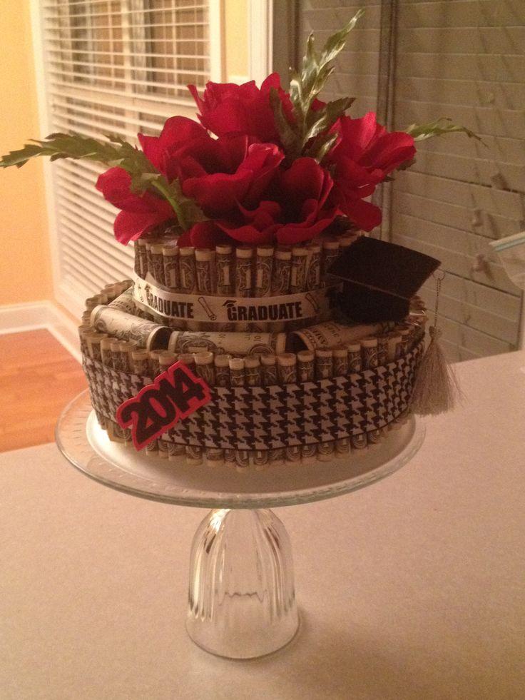 Smaller money cake graduation party ideas pinterest