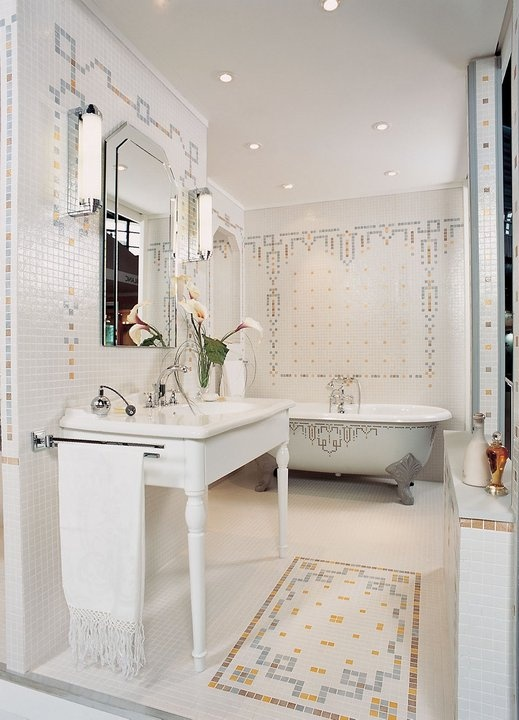 Moroccan Motif Briare Tile Bathroom Interior Style