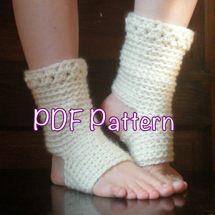 PATTERN: Thick Yoga Socks, Dance Pilates Ballet Leg Warmers, easy cro ...