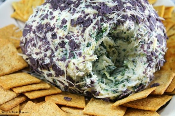 Spinach-Artichoke Cheese Ball - Amazing appetizer and super easy to ...