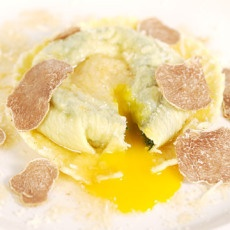 Raviolo with Egg Yolk Truffle Butter | entrees | Pinterest