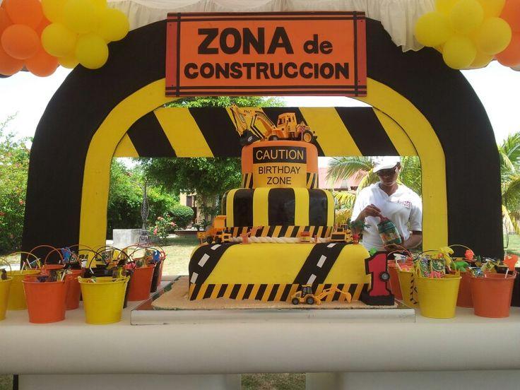 Cumple construccion fiesta de fely pinterest for Decoracion construccion