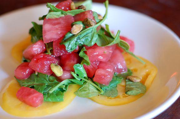 Watermelon and heirloom tomato salad   Food Cravings   Pinterest