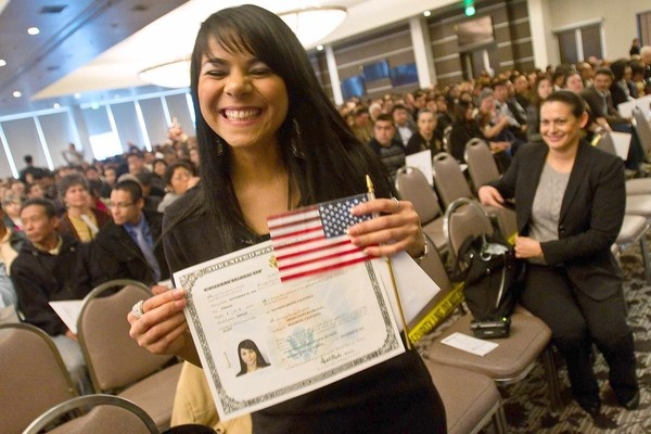"""""""When she was 10, Shyima Hall was smuggled from Egypt into the U.S. as a slave to a family in Irvine. In Montebello on Thursday, she became an American citizen."""" // Some hope to balance out the bad. <3"""