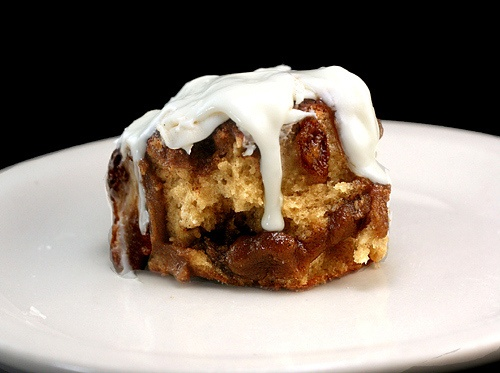 Gooey Cinnamon Roll Biscuits with Cream Cheese Frosting Glaze. The ...