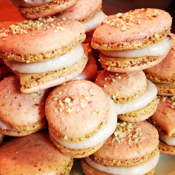 French macaroons- strawberry almond with strawberry buttercream ...