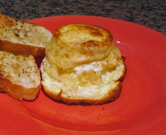 TWICE-BAKED GOAT CHEESE SOUFFLE | OPA! EGGS | Pinterest