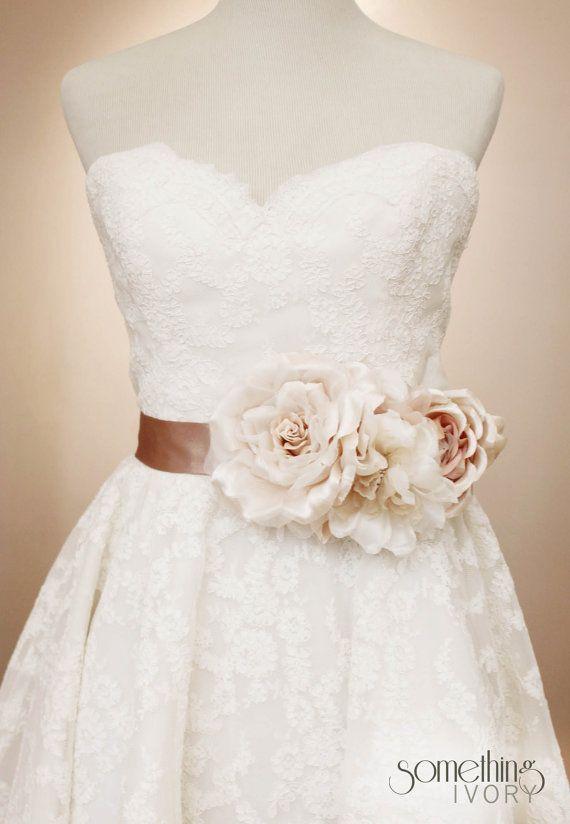 Scarlett floral bridal wedding sash for Wedding dress accessories belt
