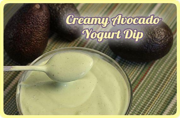 Creamy Avocado Yogurt Dip -- a healthy alternative for a veggie dip ...