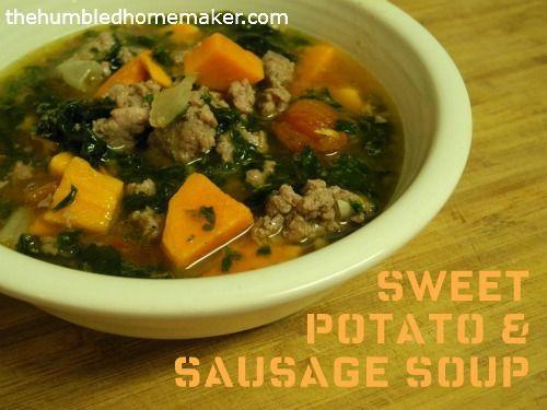 sweet potato and sausage soup   Food Glorious Food   Pinterest