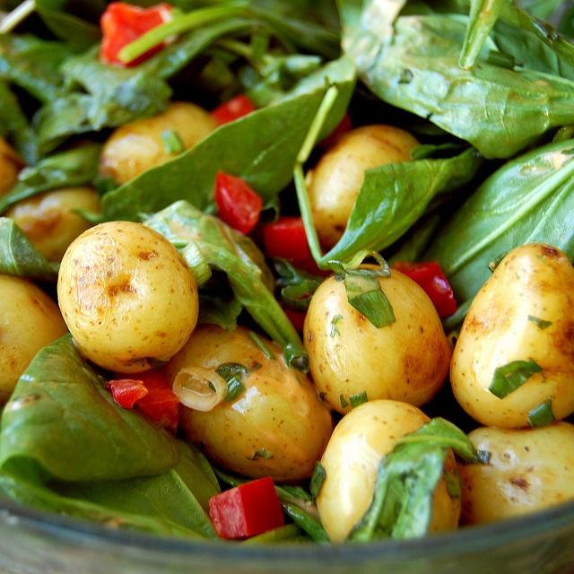 Grilled Potato and Mushroom Salad | Food and recipes | Pinterest