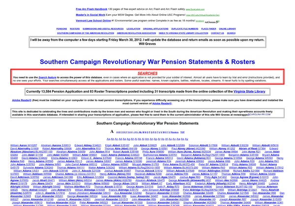 Southern Campaign Revolutionary War Pension Statements & Rosters: http://revwarapps.org via @url2pin