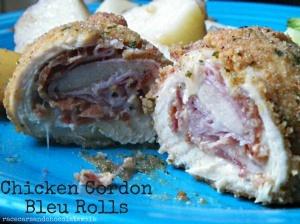 Chicken Cordon Bleu rolls | Favorite Recipes | Pinterest