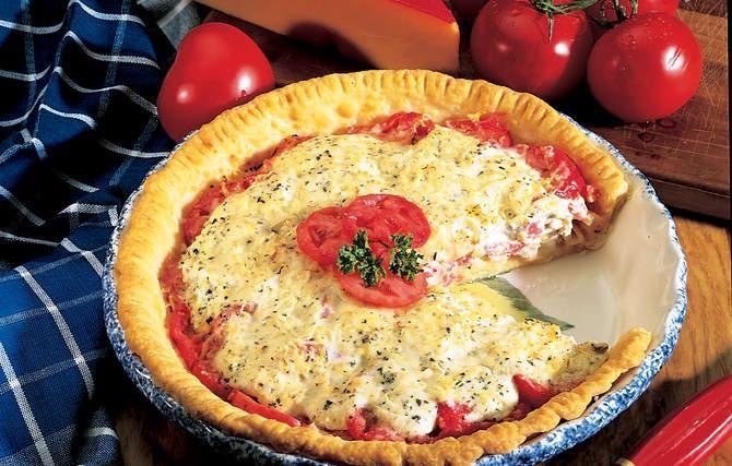Savory Tomato-Cheddar Pie | Eats | Pinterest