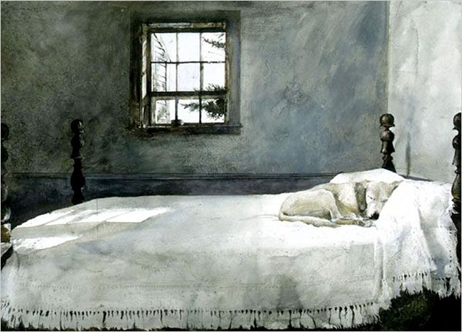Andrew Wyeth Master Bedroom A 1965 Watercolor By Andrew Wyeth