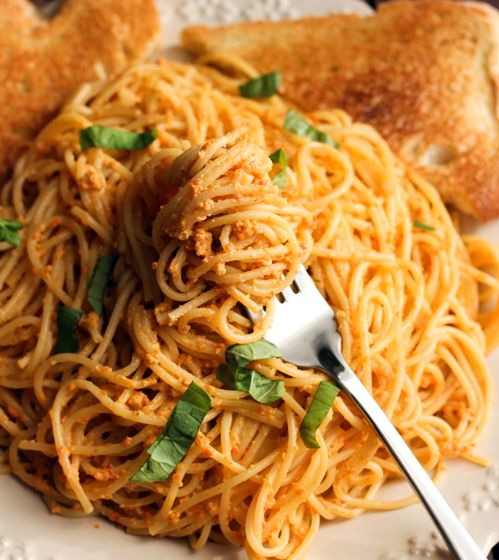 red pepper pesto pasta | Yummo | Pinterest