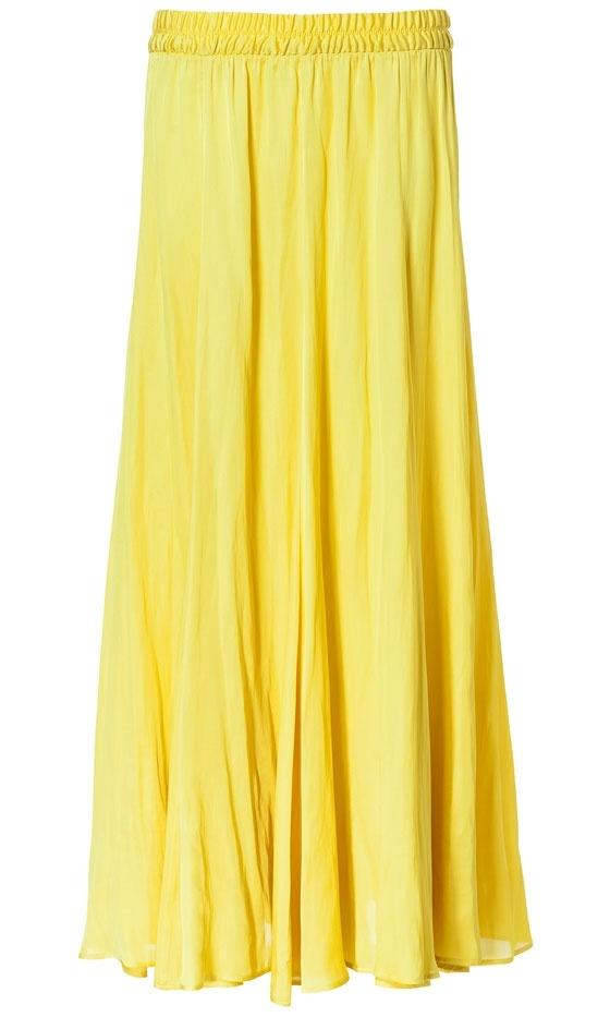 Zara Yellow Skirt Uk 77