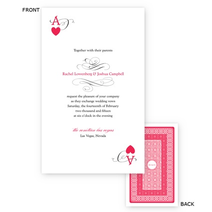 Playing Card Invitations