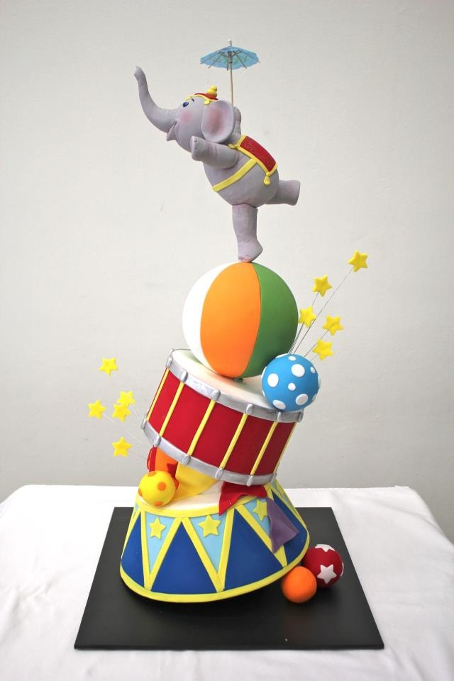 Circus elephant cake topper - photo#3