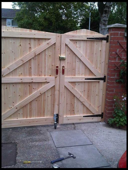 Деревянные ворота и калитки для дачи своими руками фото 63