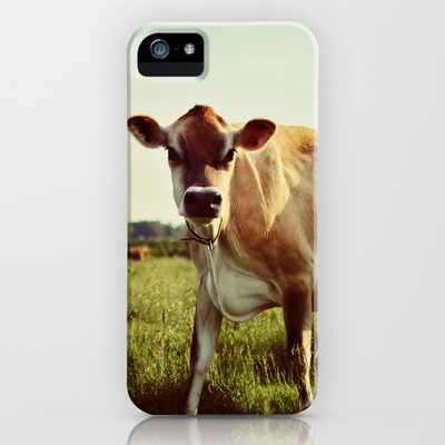 jersey cow iPhone Case by Beverly LeFevre - $35.00