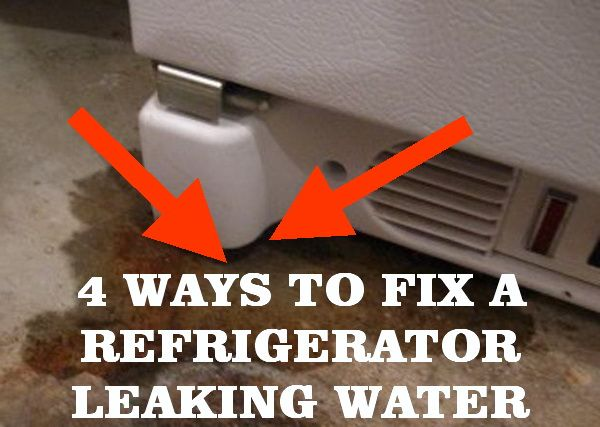How to fix a refrigerator leaking water helpful things for Refrigerator leaking water on floor