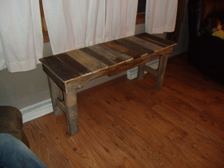 Table made out of old wood pallets cabin stuff pinterest for What to make out of those old wood pallets