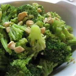Broccoli with Garlic Butter and Cashews Recipe - Allrecipes.com