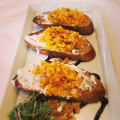 Roasted Butternut Squash Bruschetta Trio on Joy Bauer Healthy Menu in ...