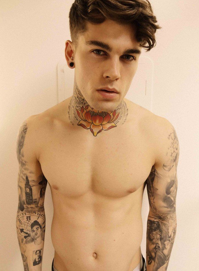 Male models with tattoos and piercings male models picture for Men nipple tattoo