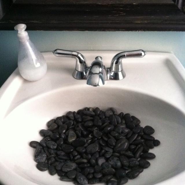 Sink Rocks : Black rocks.....Sink at the spa Home Decor Pinterest