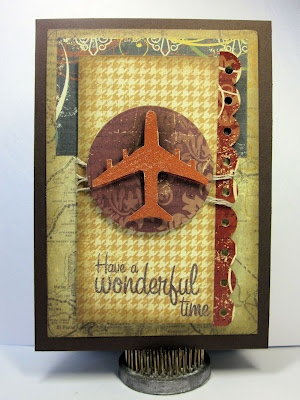 Card by Gini Williams Cagle - Simple Stories patterned paper and the Craft's Meow stamps, Wow Embossing Powder