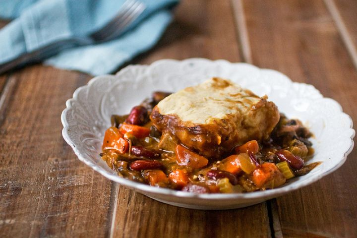 Mushroom Stout Pie With Potato Biscuits | VEGETARIAN | Pinterest
