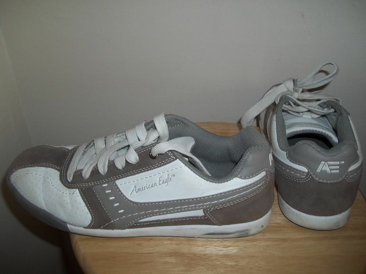 american eagle s athletic shoes brown white size 7 5