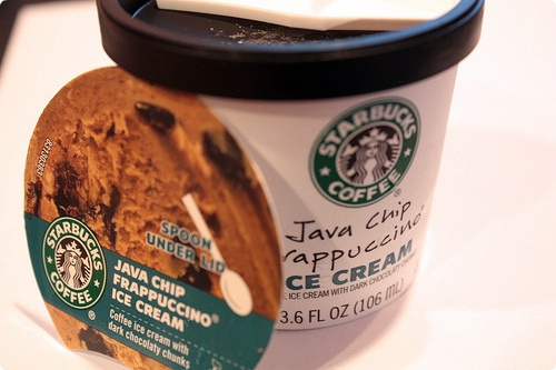 Starbucks Java Chip Frappuccino Ice Cream - my new obsession!