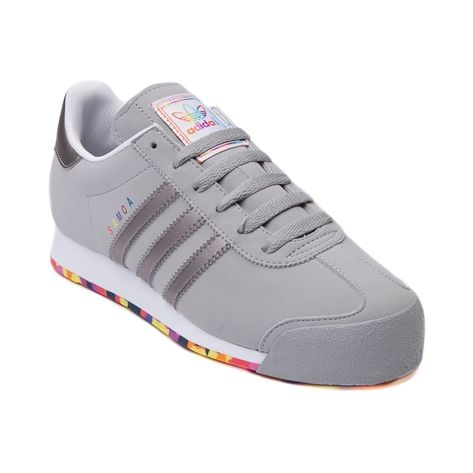 Shop for Womens adidas Samoa Athletic Shoe in Gray Gray at Journeys