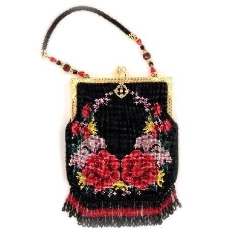 Crochet Beaded Purse Pattern : Reflections Crocheted Beaded Purse Pattern PDF by CrochetNBeads, $4.75