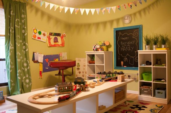 Kids playroom decorating ideas - Dining room play ...