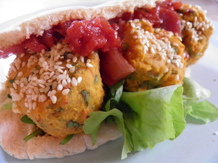 Baked sweet potato falafels | Food | Pinterest