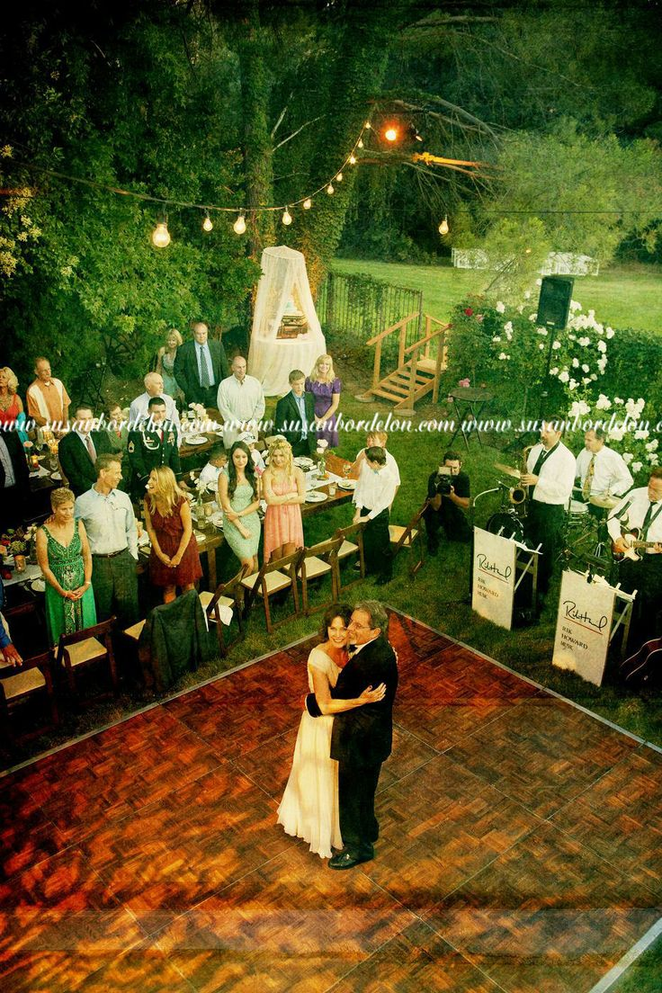 Planning a backyard wedding reception