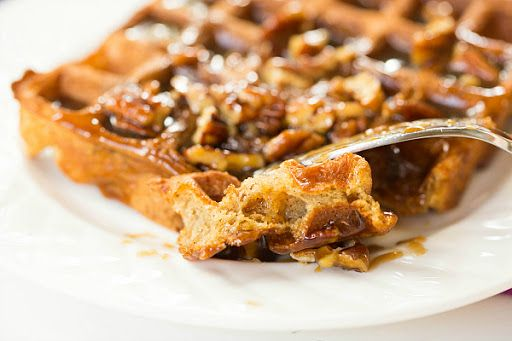 Praline Waffles Recipe on Yummly | Edible Stuff | Pinterest