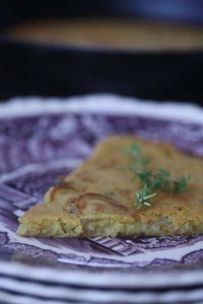 Socca with Shallots and Thyme Ingredients: 1 cup chickpea flour 1 ...