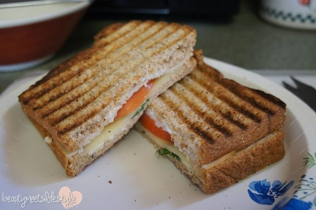 Turkey and Tomato Panini (Simple Healthy Meal)