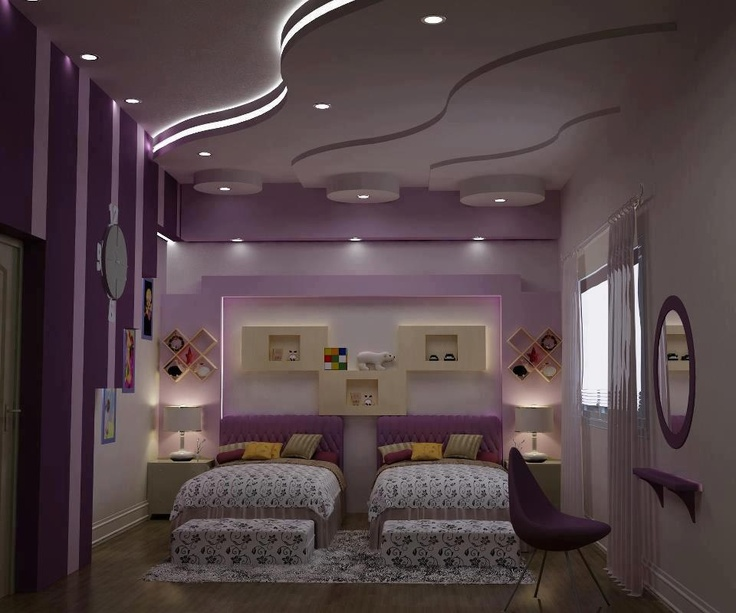 Modern Purple Little Girls Room Girls Pinterest