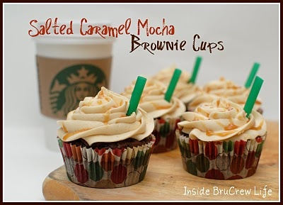 Salted Caramel Mocha Brownies with Starbucks Via